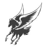 Engraving Winged Horse Stock Photo