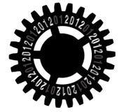 Engrené pendant l'année neuve 2012 Photos stock