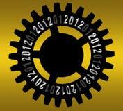 Engrené pendant l'année neuve 2012 Photo libre de droits