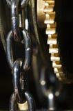 Engrenagem & corrente do pulso de disparo Imagens de Stock Royalty Free