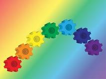 Engrenagem-arco-íris Fotos de Stock