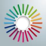 Engrenagem branca bandeiras coloridas Imagem de Stock