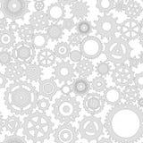 Engrenagem cinzenta mecânica em um fundo branco ilustração royalty free