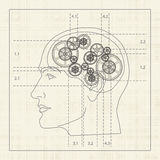 Engrenagem da mente humana ilustração royalty free