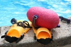 Engrenagem da natação Imagem de Stock