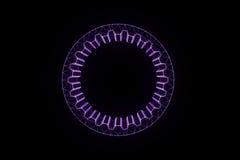 Engrenagem da roda denteada no estilo de Wireframe do holograma Rendição 3D agradável Fotos de Stock Royalty Free