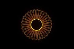 Engrenagem da roda denteada no estilo de Wireframe do holograma Rendição 3D agradável Fotografia de Stock