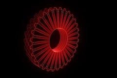 Engrenagem da roda denteada no estilo de Wireframe do holograma Rendição 3D agradável Foto de Stock