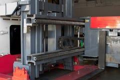 A engrenagem de deslizamento das empilhadeiras, para o controle da forquilha da empilhadeira foto de stock