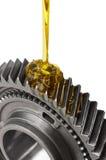 Engrenagem de lubrificação do metal imagens de stock