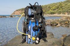 Engrenagem de mergulhador Foto de Stock Royalty Free