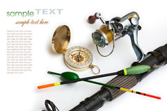 Engrenagem de pesca Foto de Stock