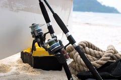 Engrenagem de pesca Fotografia de Stock