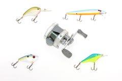 Engrenagem de pesca foto de stock royalty free