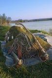 Engrenagem de pesca Fotos de Stock