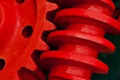 Engrenagem de sem-fim velha da maquinaria industrial Imagens de Stock Royalty Free