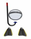 Engrenagem de Snorkling Imagem de Stock