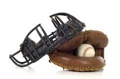 Engrenagem do coletor do basebol fotografia de stock royalty free