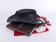 Engrenagem do cowboy de Gamblin Foto de Stock Royalty Free