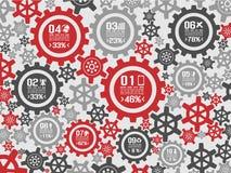 Engrenagem do fundo de Infographic Fotografia de Stock