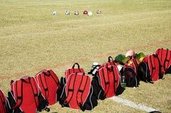 Engrenagem do futebol. Imagens de Stock