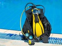 Engrenagem do mergulhador Fotos de Stock