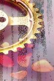 Engrenagem do ouro Foto de Stock Royalty Free