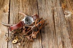 Engrenagem do relógio da oxidação Fotos de Stock