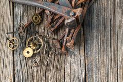Engrenagem do relógio da oxidação Imagem de Stock Royalty Free