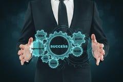 Engrenagem do sucesso comercial Fotos de Stock