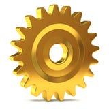 Engrenagem dourada Imagens de Stock