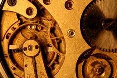 Engrenagem dourada Fotografia de Stock