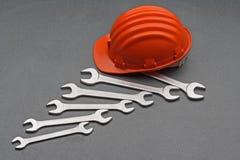 Engrenagem e chaves da segurança foto de stock