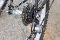Engrenagem e derailleur da bicicleta Imagens de Stock