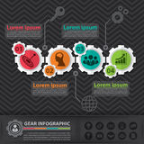 Engrenagem infographic Imagem de Stock