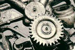 Engrenagem interna do motor Fotografia de Stock
