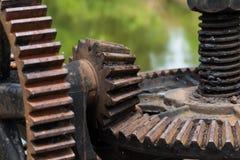 Engrenagem oxidada e oleosa da porta de água Imagem de Stock