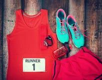 Engrenagem running pronta para o dia da raça Imagem de Stock Royalty Free