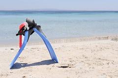 Engrenagem Snorkelling Fotos de Stock Royalty Free