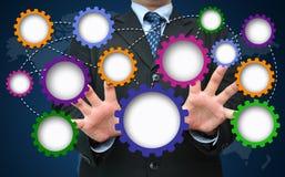 Engrenagem vazia para o conceito do desenvolvimento de negócios Fotografia de Stock Royalty Free