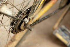 Engrenagem velha da parte traseira da bicicleta Imagens de Stock