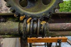Engrenagem velha e oxidada na luz solar Fotografia de Stock Royalty Free