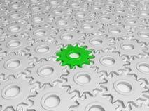 Engrenagem verde diferente Fotografia de Stock