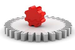 Engrenagem vermelha original Imagens de Stock