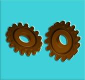 Engrenagens 7 rodas denteadas Fotografia de Stock