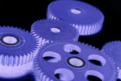Engrenagens azuis Foto de Stock