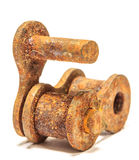 Engrenagens Chain velhas Imagens de Stock Royalty Free