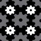 Engrenagens cinzentas e brancas Imagens de Stock