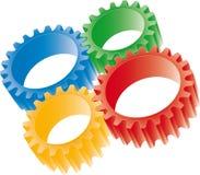 Engrenagens coloridas ilustração stock