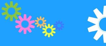 Engrenagens coloridas Imagens de Stock